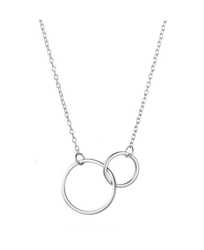 Collar doble circulo plata