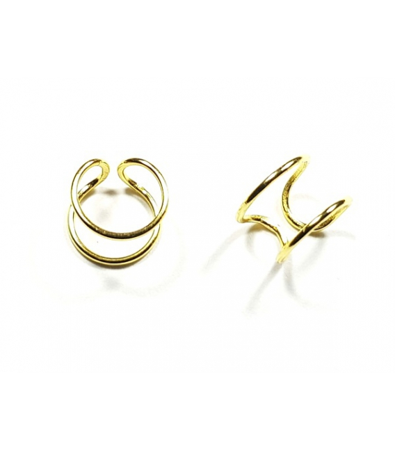 Ear cuff doble + fino oro