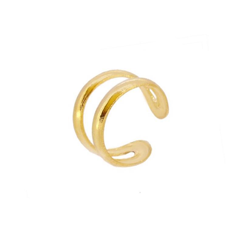Ear cuff doble oro liso