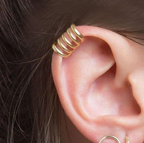 Ear cuff 5 aritos oro