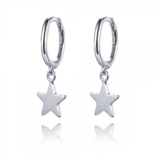 Aro + Estrella plata lisa (CLIP)