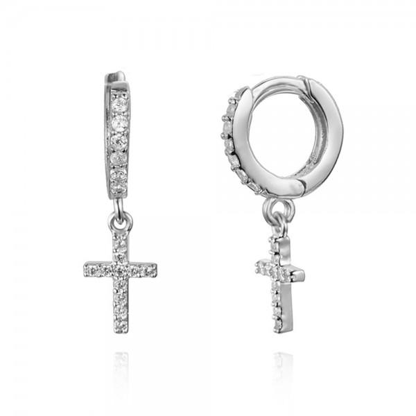 Aro + mini cruz cz plata