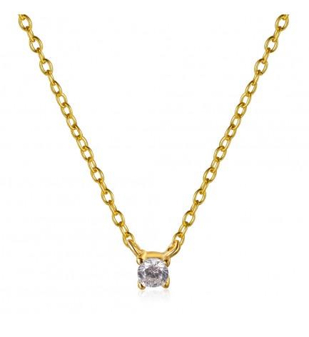 Collar Mini Circonita Oro