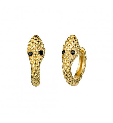 Mini aro serpiente oro