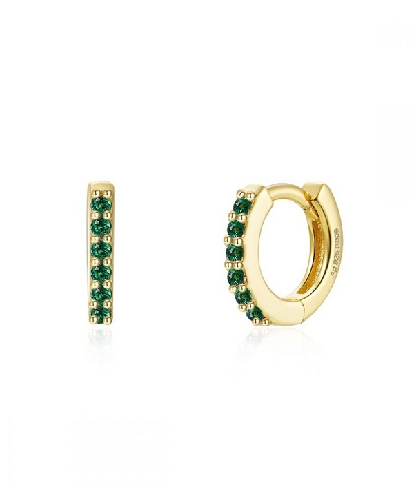 Mini arito Verde oro